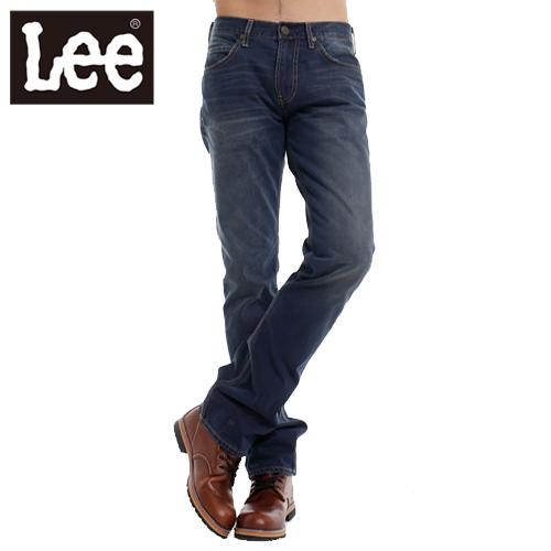 【Super Sales 褲款下殺↘2.5折】LEE 牛仔褲 低腰標準直筒728-男款(吊染深藍)