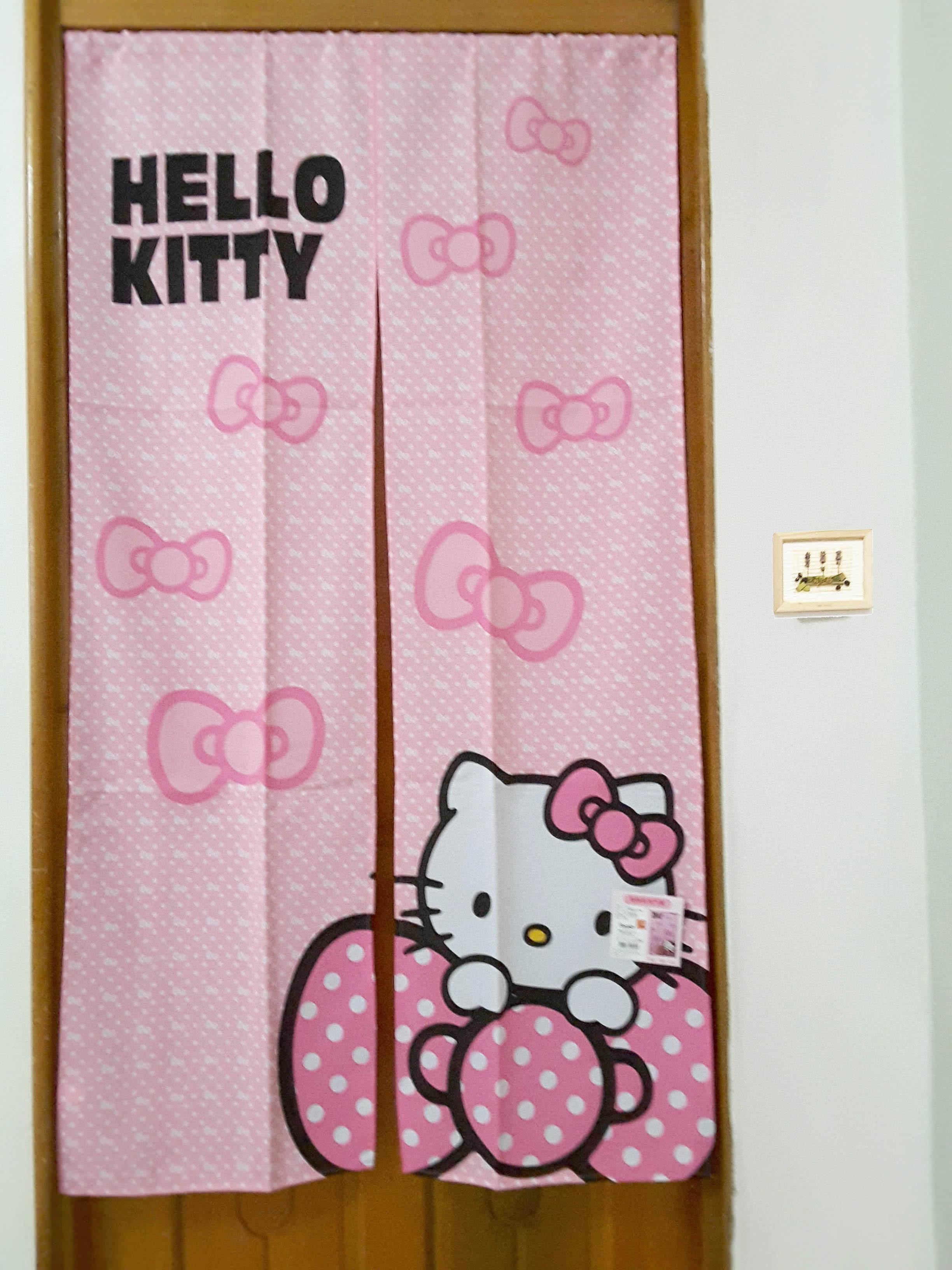 La maison生活小舖《HELLO KITTY兩片式門簾》色彩繽紛可愛 美化居家環境 隔間遮光風水適用