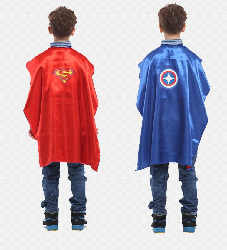 X射線【W271829】無敵英雄雙面披風(戰士.無敵),萬聖節服裝/化妝舞會/派對道具/兒童變裝/表演/超人/美國隊長/cosplay