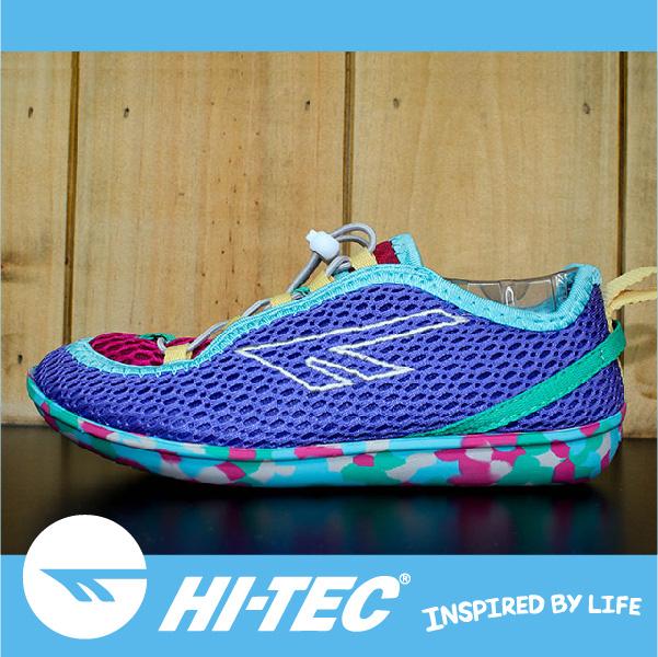 萬特戶外運動 HI-TEC ZUUK 女絲瓜鞋 極輕樂步 旅行必備便鞋 免綁鞋帶 女款迷彩紫
