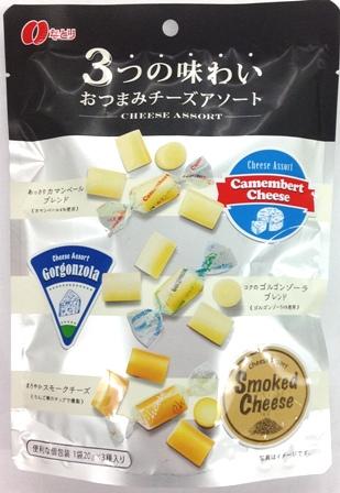Natori三味點心起司 綜合派對起司條/乳酪60g   なとり 3つの味わい おつまみチーズアソート