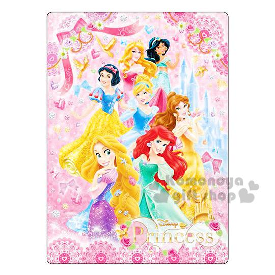 〔小禮堂〕迪士尼 公主 日製墊板《粉.多角色.城堡.鑽石.鳥》