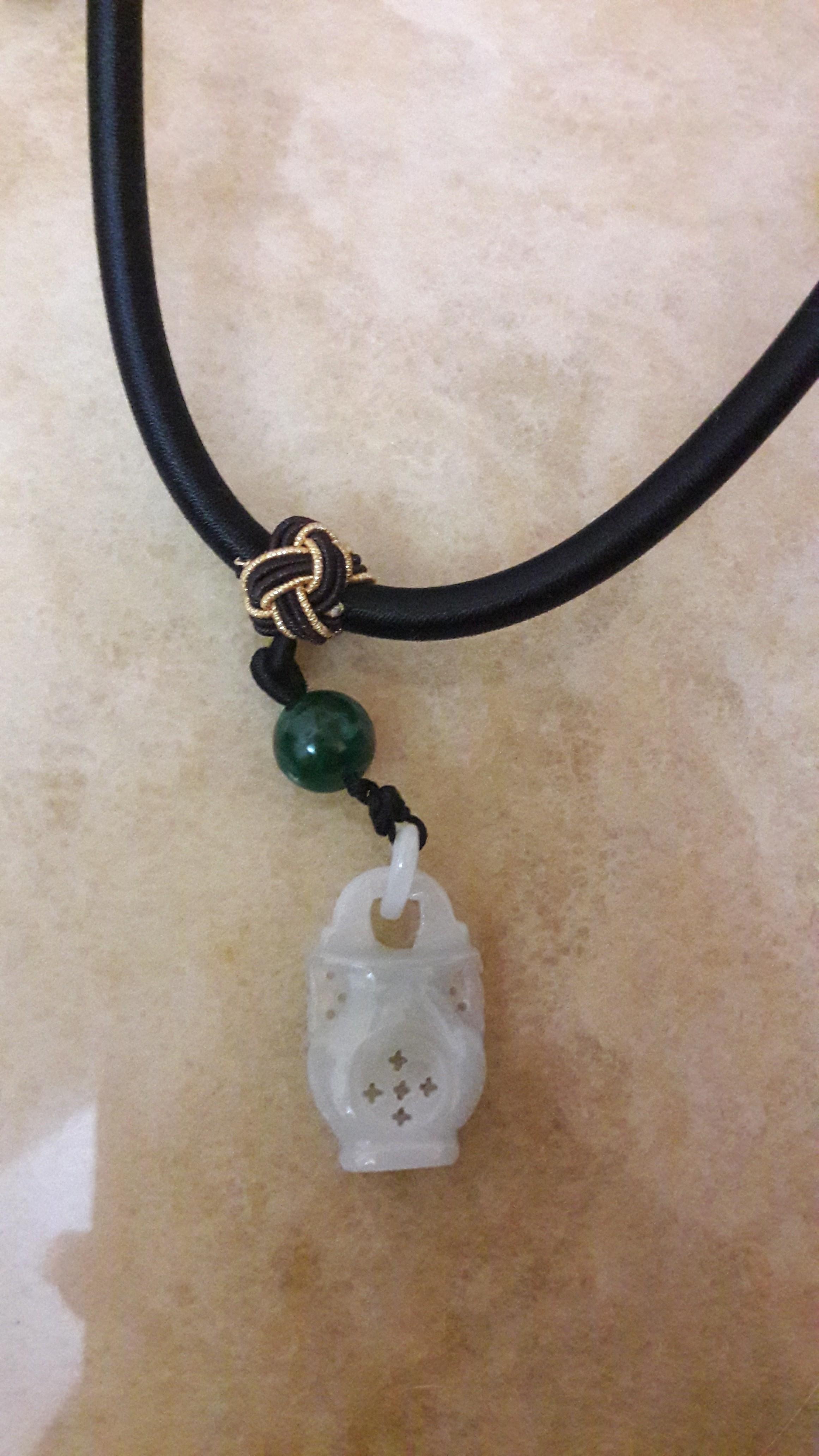 掬水 玉瓶中式繩結項鍊