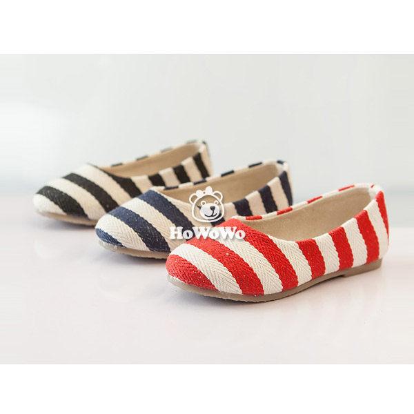 寶寶鞋 條紋學步鞋/中童鞋 公主鞋 (15.5-18cm) FK809