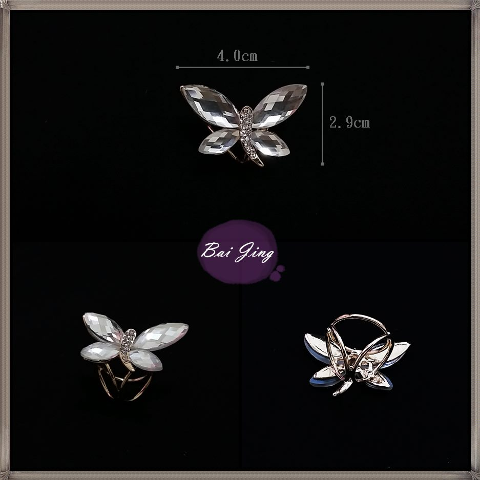 1650763【寶石蝴蝶】絲巾扣