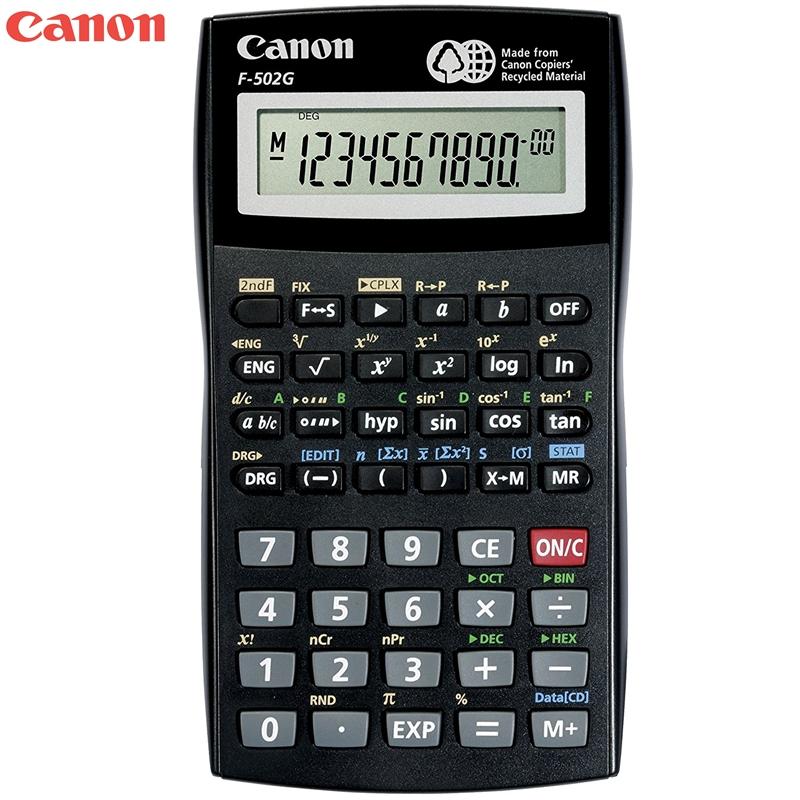 又敗家@Canon佳能計算機F-502G計算機F-502GSOB工程計算機(國家考試專用計算機,第二類計算機(可複數計算、四則運算數、n進位計算、三角函數、時間統計計算)SOB計算機Canon電子計算機Canon計算機國家考試用計算機Canon計算機F-502G電子計算機F-502GSOB電子計算機國家考試計算機第二類第2類計算機工程計算機Canon正品工程電子計算機Canon計算機electronic caculator