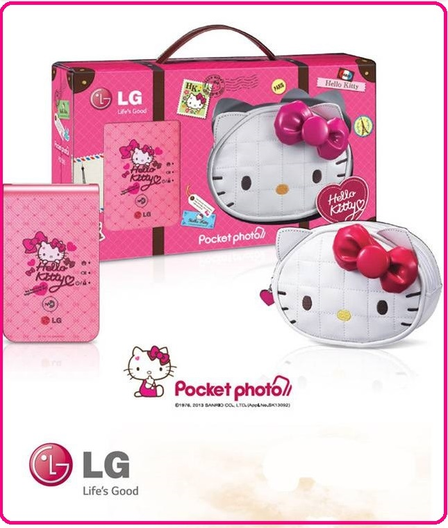 【2016 耶誕好禮 搶先購】LG PD239SP HELLO KITTY 粉亮精裝版口袋相印機