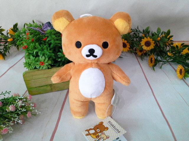 ~*My 71*~   絨毛娃娃 15cm立姿拉拉熊 高 15cm 拉拉熊 懶懶熊 玩偶 吊飾 兒童 玩具 情人 禮物