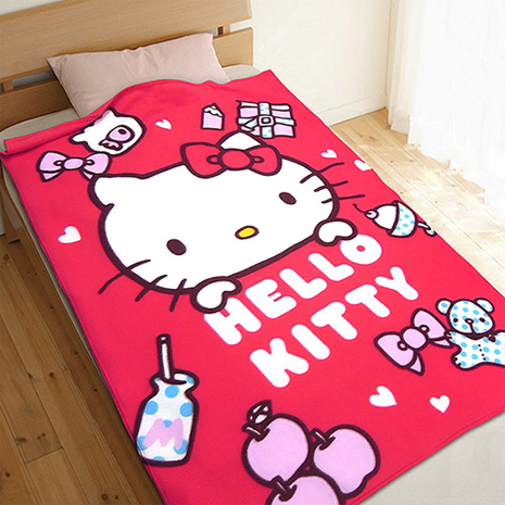 HELLO KITTY 生活小品刷毛毯