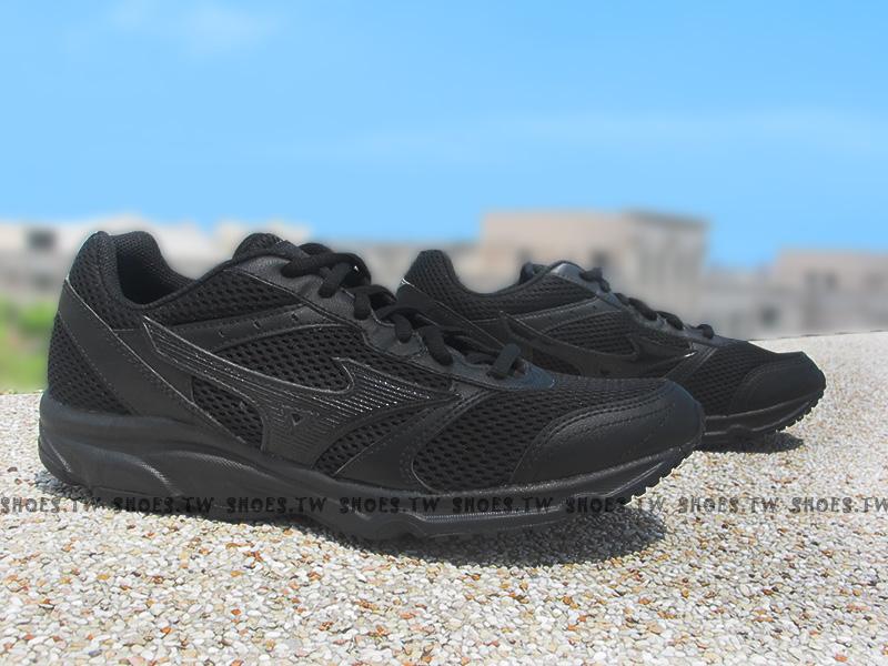 《驚爆5折》Shoestw【K1GA161409】MIZUNO 美津濃 MAXIMIZER18 慢跑鞋 全黑 3E寬楦頭