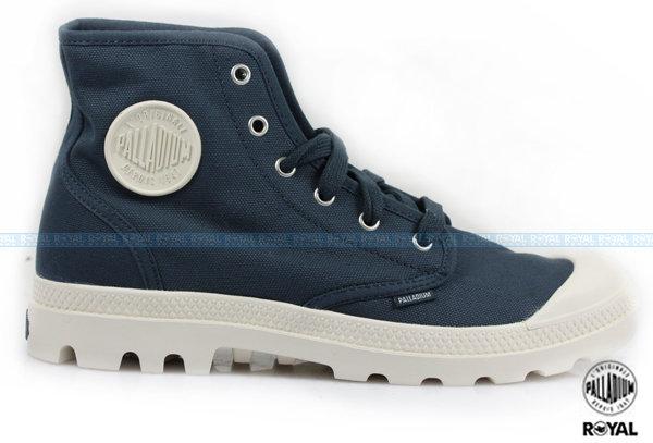 Palladium 新竹皇家 PAMPA HI ORIGINALE 深藍/白 布質 原創經典系列  休閒鞋 高筒 男款 NO.A8506