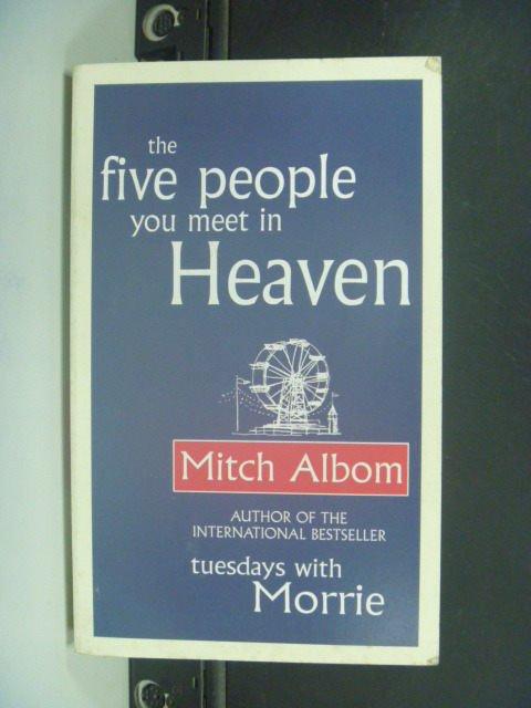 【書寶二手書T5/心靈成長_GJM】Five People You Meet in Heaven