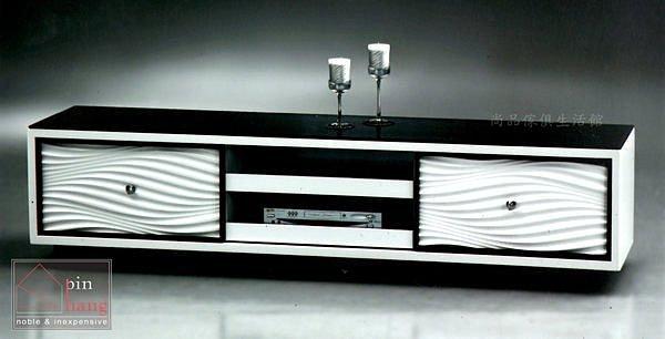 【尚品傢俱】639-06 奧瑪特斯 烤白黑玻電視櫃~另有同系列大茶几/TV櫃/客廳長櫃/收納櫃/儲物櫃/錄放機櫃