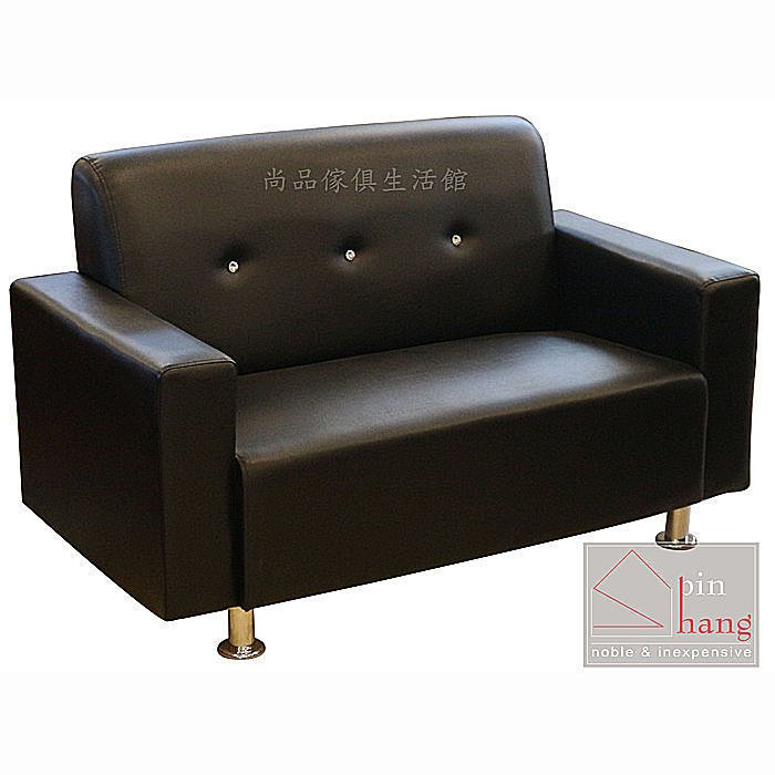 【尚品家具】433-23 漢考克 簡約水鑽2人椅皮沙發~另有1人椅、3人椅沙發/會客室沙發/客廳沙發/辦公室沙發