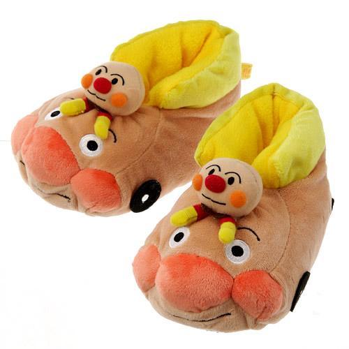 『日本代購品』麵包超人全包室內鞋兒童保暖棉鞋防滑鞋