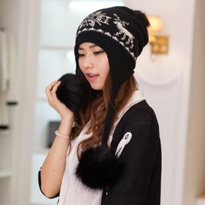 毛帽針織毛線帽-可愛麋鹿保暖舒適女帽子4色73ie69【獨家進口】【米蘭精品】