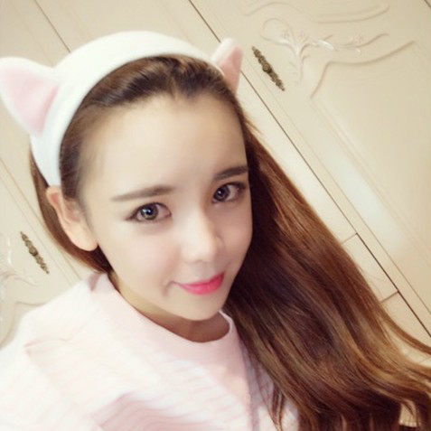 貓耳朵髮帶髮箍韓版超可愛束髮帶髮飾【庫奇小舖】