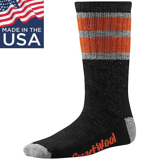 【鄉野情戶外專業】 Smartwool |美國| Striped Hike Medium Crew 兒童羊毛襪(厚)/美麗諾羊毛襪 兒童襪 雪襪-黑/SW0SW146