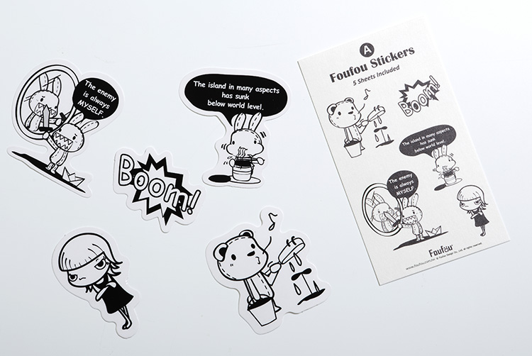 《Foufou》造型透明貼紙(Pack A)