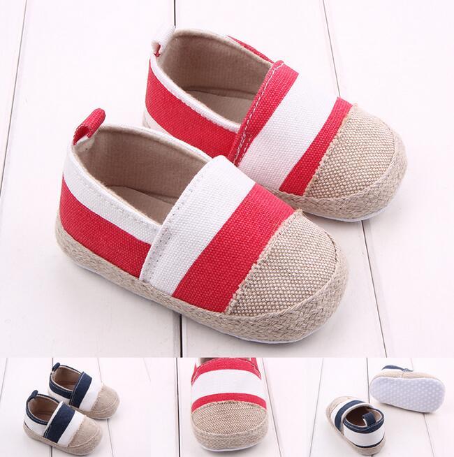 嬰兒鞋軟底麻布頭寶寶鞋條紋鞋學步鞋