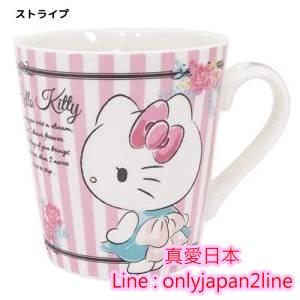 【真愛日本】16092100002馬克杯-KT玫瑰   三麗鷗 Hello Kitty 凱蒂貓   馬克杯 水杯  杯子 正品