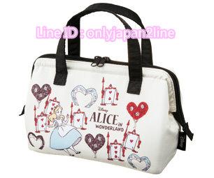 【真愛日本】16112900015寬口保溫冷提袋-愛麗絲撲克  迪士尼 愛麗絲夢遊仙境  手提袋   便當袋 正品