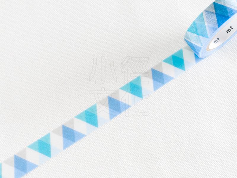 *小徑文化*日本進口和紙膠帶 mt 1P DECO 系列 - 藍色三角鑽石 ( MT01D336 )