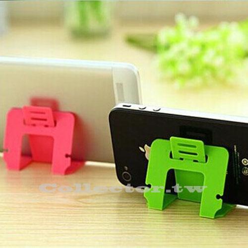【K15010601】糖果色名片式手機支架 可折疊卡片式支架 三檔斜度可調式支架