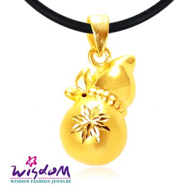 3D硬金 葫蘆硬金墜子(不含鍊) 串珠/手鍊/項鍊 百搭配飾 推薦/生日禮物 威世登時尚珠寶