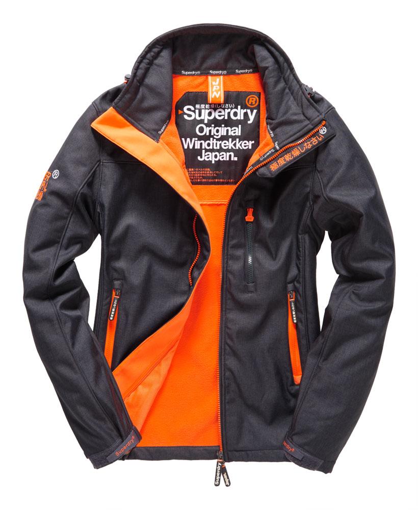 英國名品 代購 極度乾燥 Superdry Windtrekker 男士風衣戶外休閒外套 防水 深灰/螢光橙