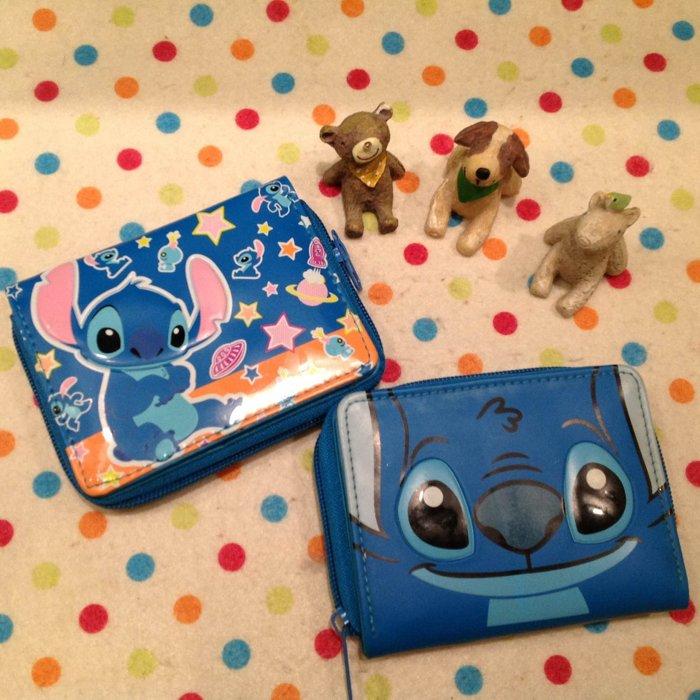 =優生活=日本迪士尼星際寶貝 史迪奇橫式立體造型短夾 卡通皮夾史迪奇造錢包 證件包 拉鍊夾層款