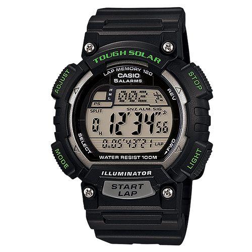 CASIO G-SHOCK STL-S100H-1A 黑綠數位腕錶/黑面44mm