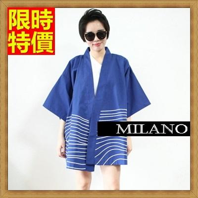 和服外套 和風女罩衫-寬鬆復古日式七分袖防曬小外套68af36【日本進口】【米蘭精品】