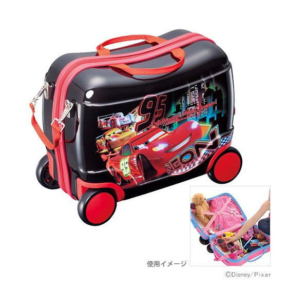 【真愛日本】16022000003 揹提附輪兩用行李箱-95號黑 迪士尼 Cars 汽車總動員 行李箱 收納箱 玩具箱