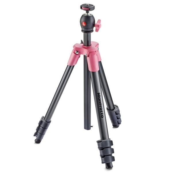 【普羅相機】MANFROTTO Compact 輕巧旅行腳架 (粉紅色)
