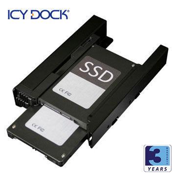 [NOVA成功3C]ICY DOCK MB082SP 雙2.5吋硬碟/固態硬碟轉接架  喔!看呢來