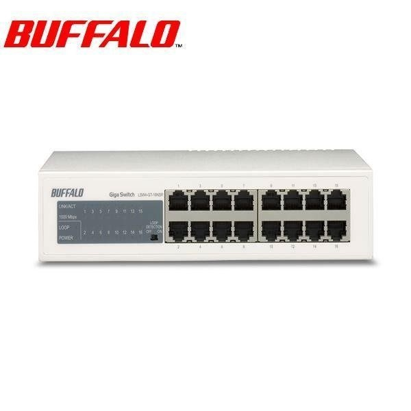 [NOVA成功3C] Buffalo 巴比祿 LSW4-GT-16NSR 16埠10M/100M/1000M交換器 喔!看呢來
