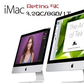 Apple 蘋果   iMac MK472TA/A Rtina 5K 27吋AIO桌機 Retina 5K /i5-3.2/2x4GB/1TB FD/M390-2G/Retina 5k