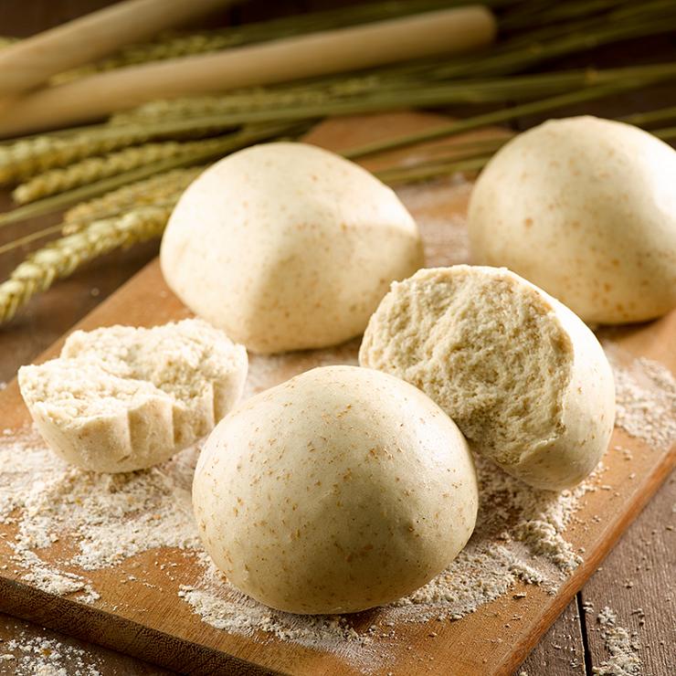 【全麥饅頭】1包5入(每顆約130克+/-5克) ▶玉食堂手工養生包子饅頭