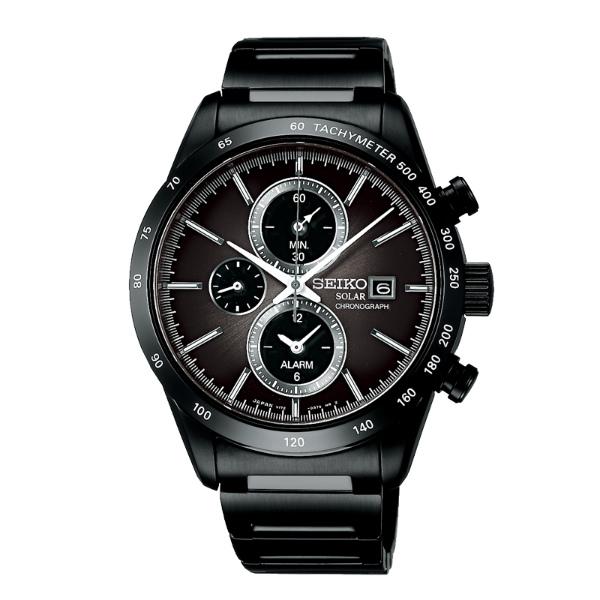 Seiko Spirit V172-0AP0Y(SBPY121J)炫黑太陽能計時腕錶/黑面41mm