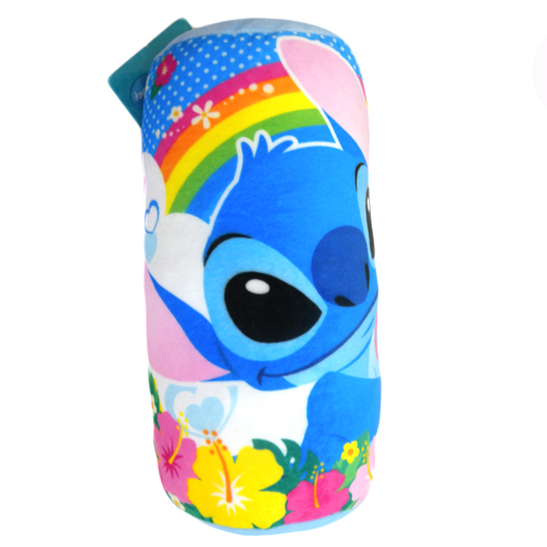 【真愛日本】15091500063 圓筒抱枕-抱醜ㄚ頭藍點 史迪奇 迪士尼 居家用品 星際寶貝 抱枕 靠枕