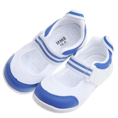 【安琪兒】日本【IFME】夏日藍白透氣網布機能室內鞋
