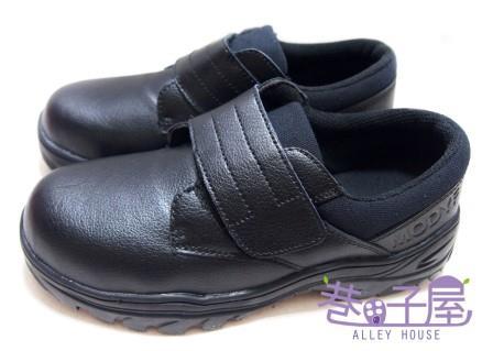 【巷子屋】MODYF 男款經典魔鬼氈鋼頭鞋 [565] 黑 超值價$690