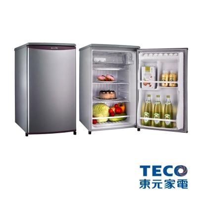 【純米小舖】東元 91公升單門電冰箱R1061(SC/LA)(晶鑽銀)