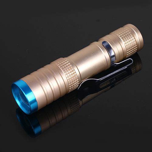 金透藍隨身輕巧照明手電筒(CP007-簡配)