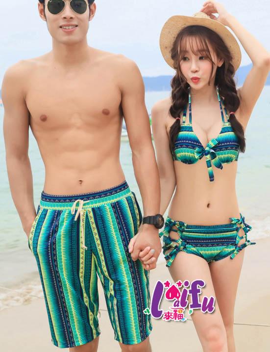★草魚妹★A115情侶泳衣世界好玩三件式泳游泳衣泳裝比基尼,單女生售價950元