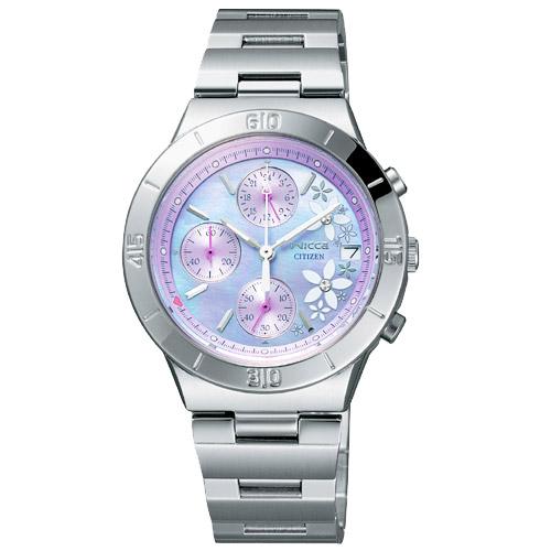 CITIZEN星辰WICCA(FA1008-54Z)愛戀紫貝時尚腕錶/紫貝面32mm