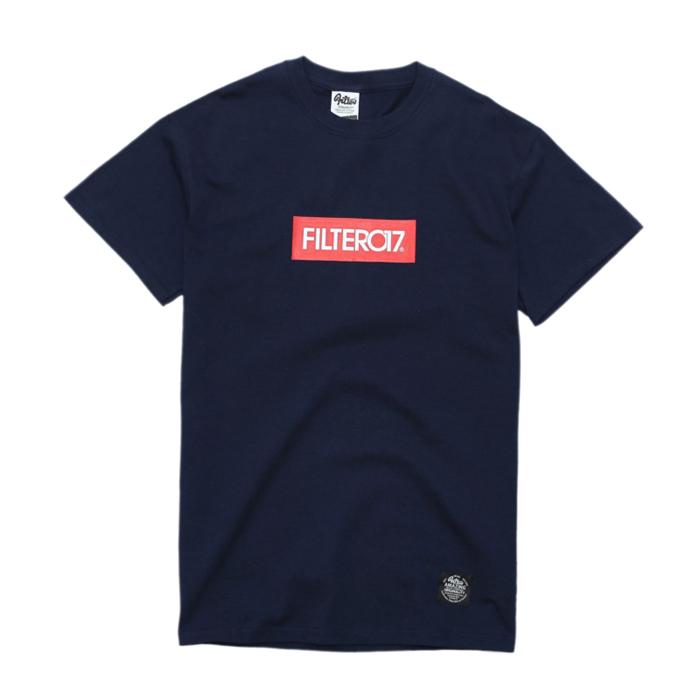 ►法西歐_桃園◄ Filter017 Box Logo Tee 美式 簡約 Logo 紅 滾筒Tee 灰色 深藍 二色 深藍