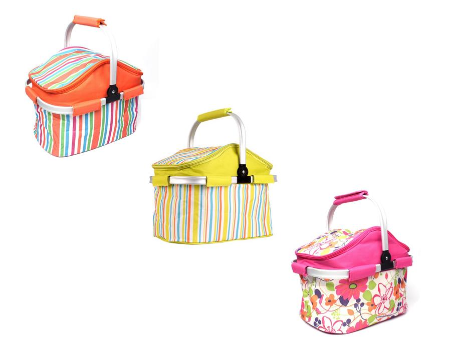 【露營趣】中和 TNR-022 20L摺疊野餐籃 保冷袋 保溫袋 保冰袋 冰桶 野餐包 野餐袋