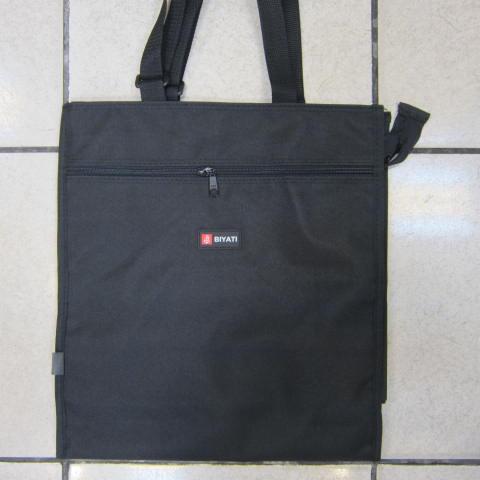 ~雪黛屋~BIYATI提袋才藝袋手提帶可調整簡單袋上學書包以外放置教具品雨衣傘便當袋台灣製造可放A4資料夾#1582黑